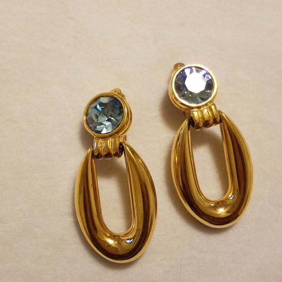 Givenchy Jewelry - 💎Givenchy - Golden Blue Clip-On Earrings